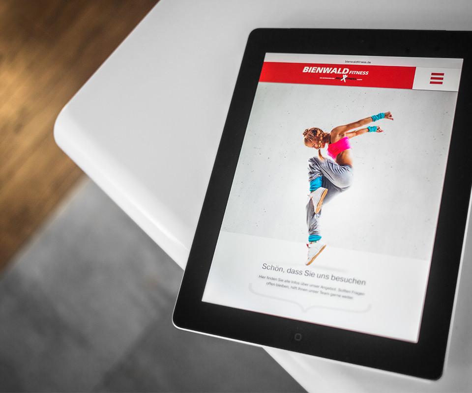 Sabath Media Werbeagentur - Bienwald Fitness – Website - Referenzbild 1