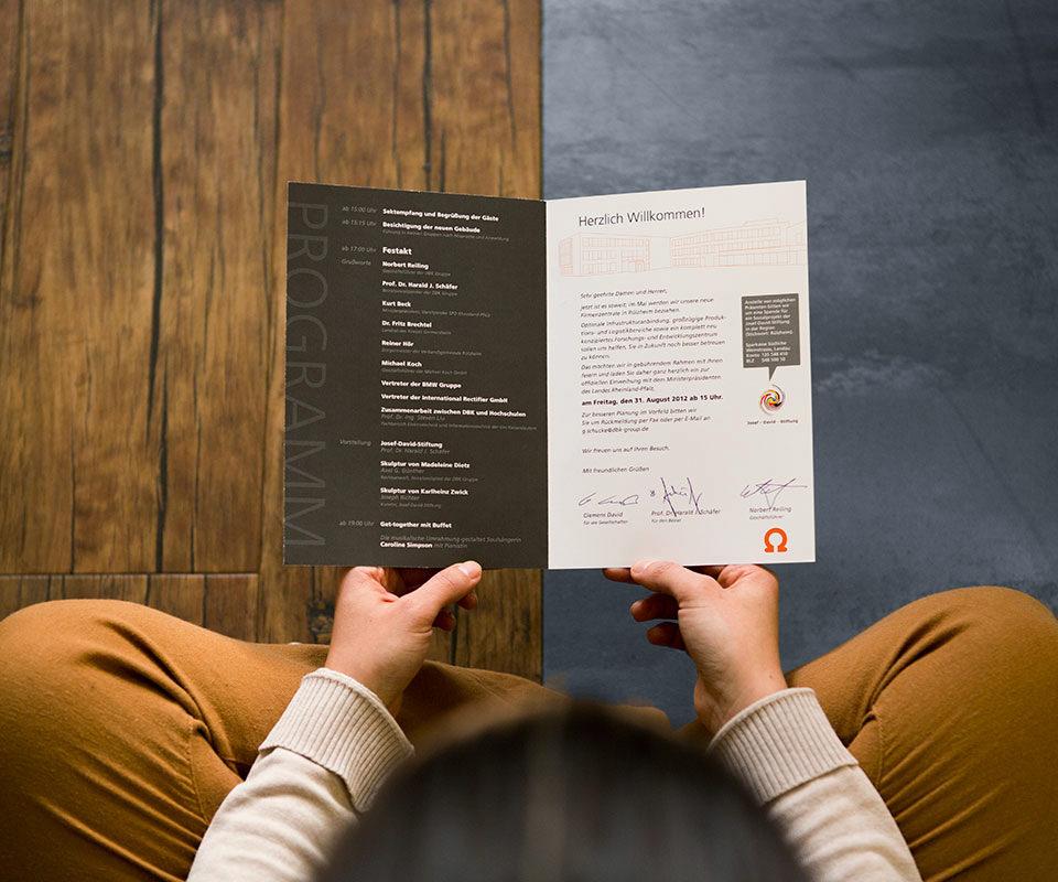 Sabath Media Werbeagentur - David & Baader DBK – Einladung - Referenzbild 1