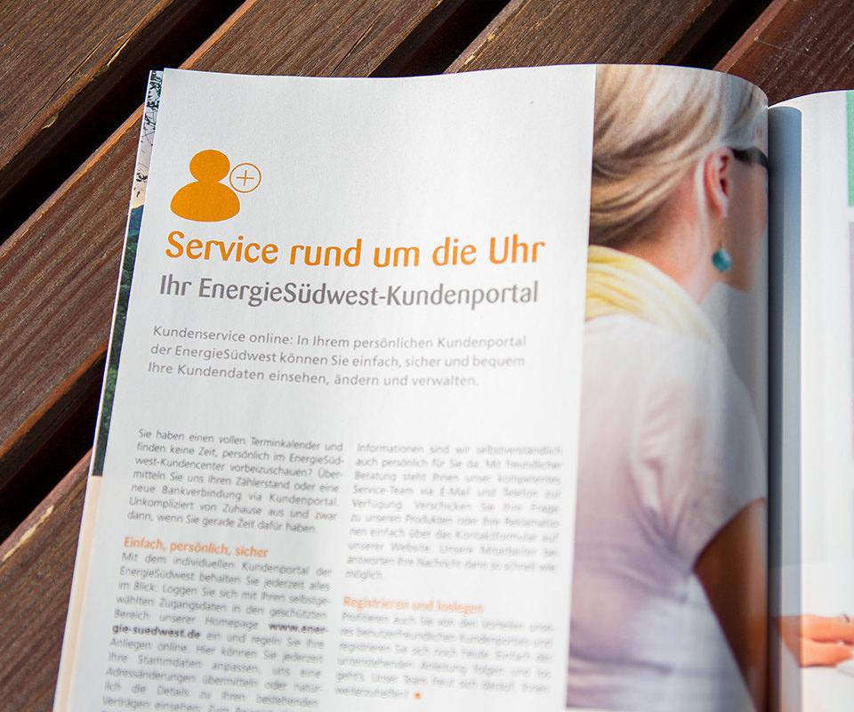 Sabath Media Werbeagentur - Energie Südwest – Kundenmagazine - Referenzbild 3