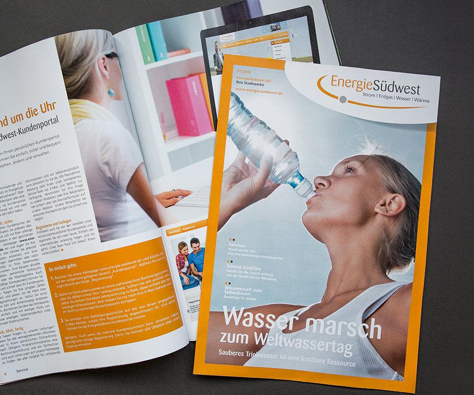 Sabath Media Werbeagentur - Energie Südwest – Kundenmagazine - Referenzbild 1