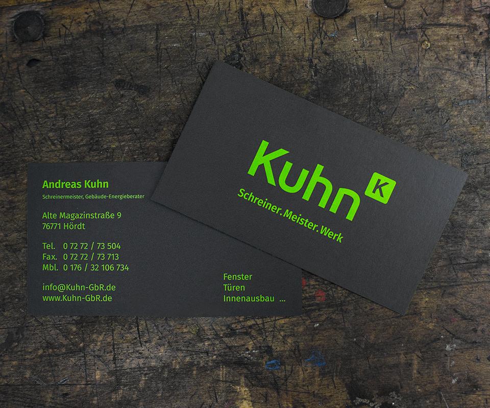 Sabath Media Werbeagentur - Schreinerei Kuhn – Corporate Design - Referenzbild 1