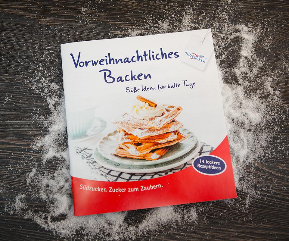 """Sabath Media Werbeagentur - Südzucker – Broschüre """"Vorweihnachtliches Backen"""" - Referenzbild 1"""