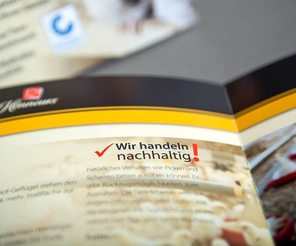 Sabath Media Werbeagentur - Honneurs – Faltblatt - Referenzbild 5