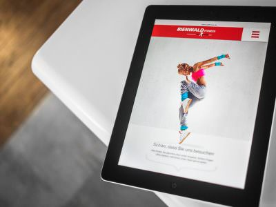 Sabath Media - Projekt Vorschaubild - Bienwald Fitness – Website