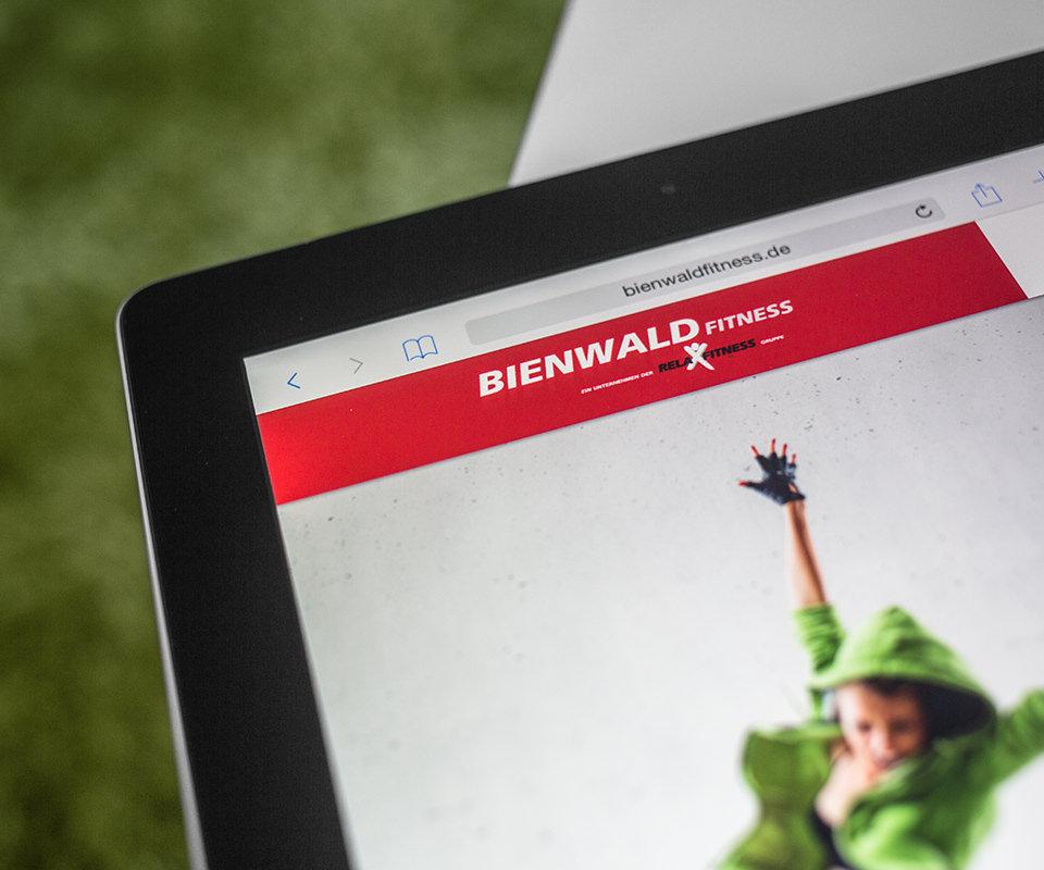 Sabath Media Werbeagentur - Bienwald Fitness – Website - Referenzbild 2