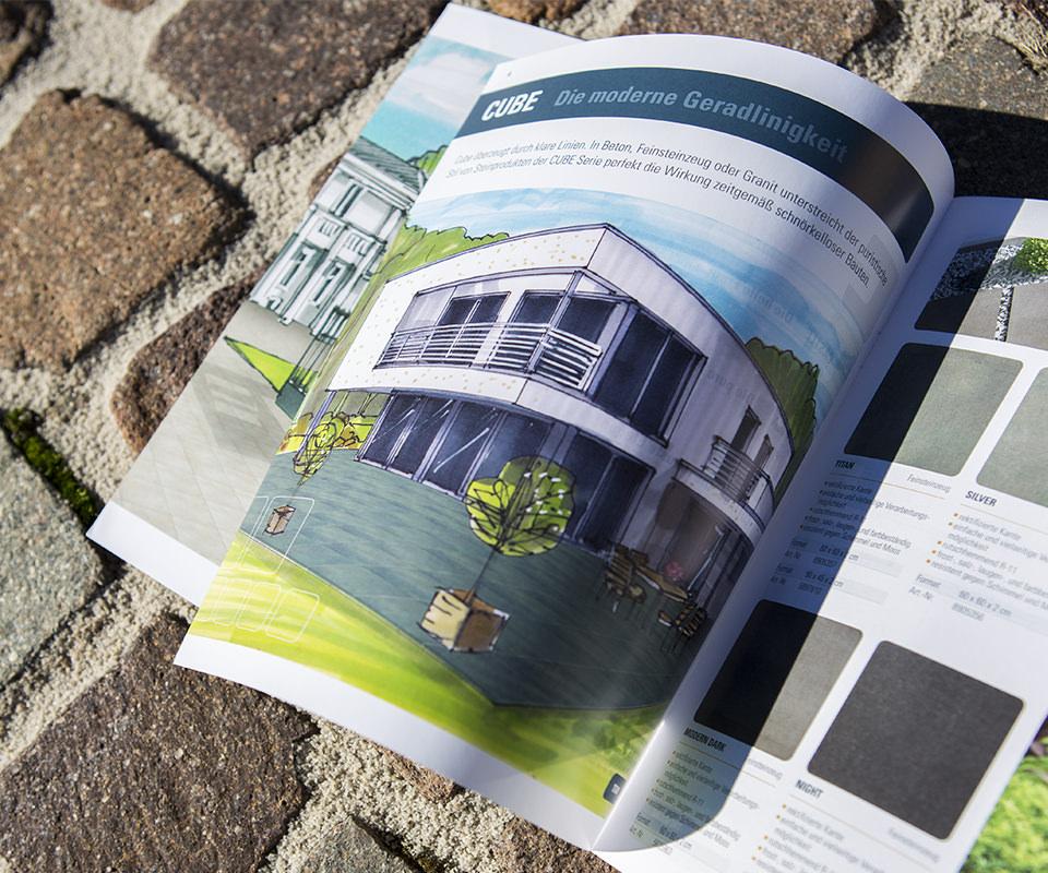 Sabath Media Werbeagentur - Hornbach – Flairstone Broschüre - Referenzbild 1