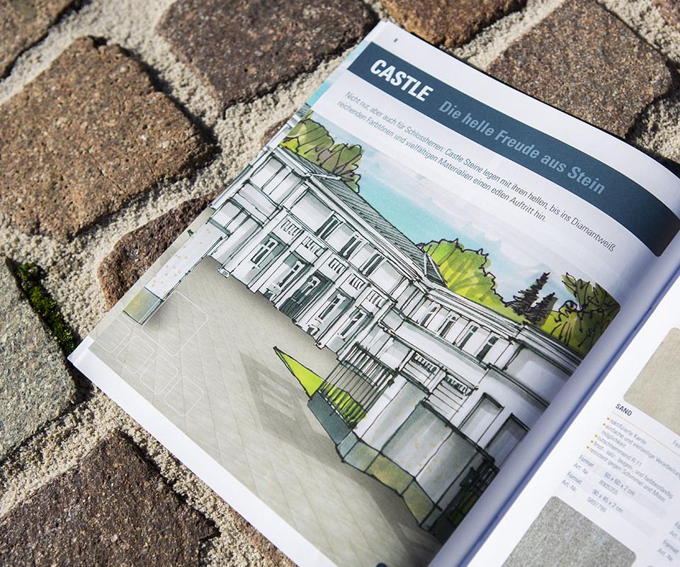 Sabath Media Werbeagentur - Hornbach – Flairstone Broschüre - Referenzbild 3