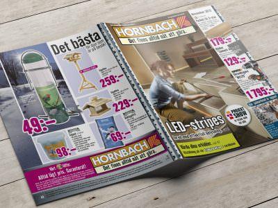 Sabath Media - Projekt Vorschaubild - HORNBACH Schweden – Werbehefte