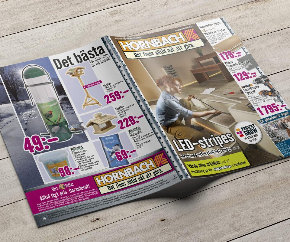 Sabath Media Werbeagentur - HORNBACH Schweden – Werbehefte - Referenzbild 1