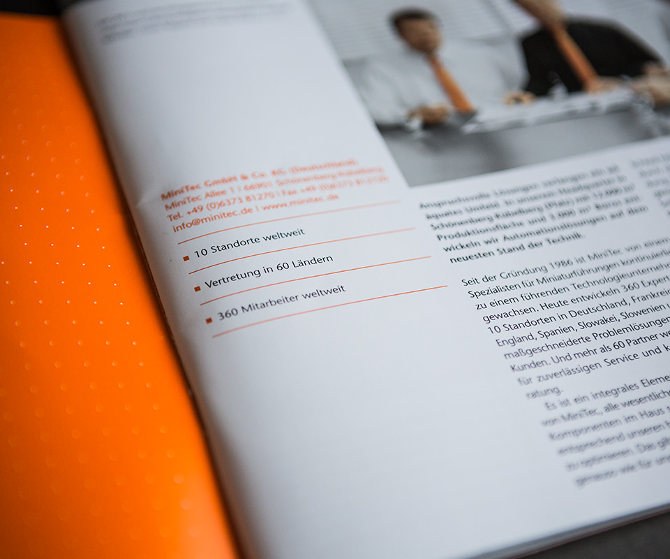 Sabath Media Werbeagentur - Minitec – Broschüre - Referenzbild 3