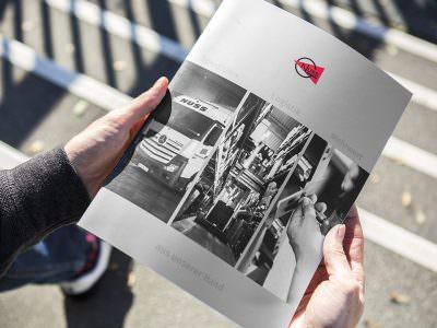 Sabath Media - Projekt Vorschaubild - Spedition Nuss – Broschüre
