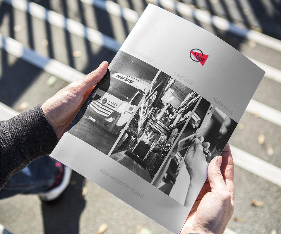 Sabath Media Werbeagentur - Spedition Nuss – Broschüre - Referenzbild 1
