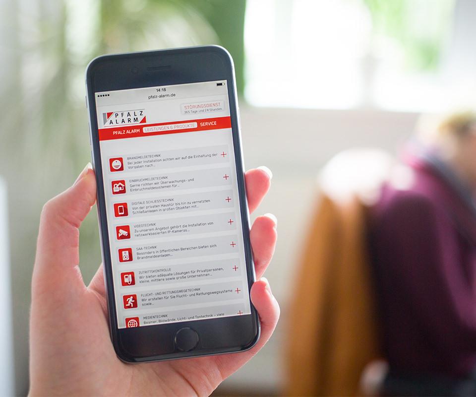 Sabath Media Werbeagentur - Pfalz Alarm – Website - Referenzbild 3