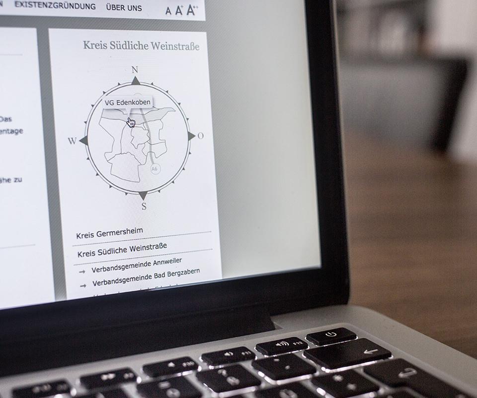 Sabath Media Werbeagentur - Wirtschaftsförderung Südpfalz – Website - Referenzbild 2