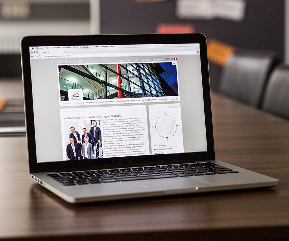 Sabath Media Werbeagentur - Wirtschaftsförderung Südpfalz – Website - Referenzbild 3