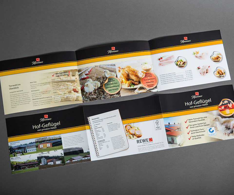 Sabath Media Werbeagentur - Honneurs – Faltblatt - Referenzbild 3