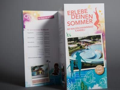Sabath Media - Projekt Vorschaubild - Waldschwimmbad Kandel – Flyer
