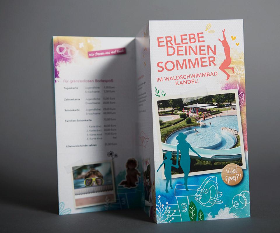Sabath Media Werbeagentur - Waldschwimmbad Kandel – Flyer - Referenzbild 1