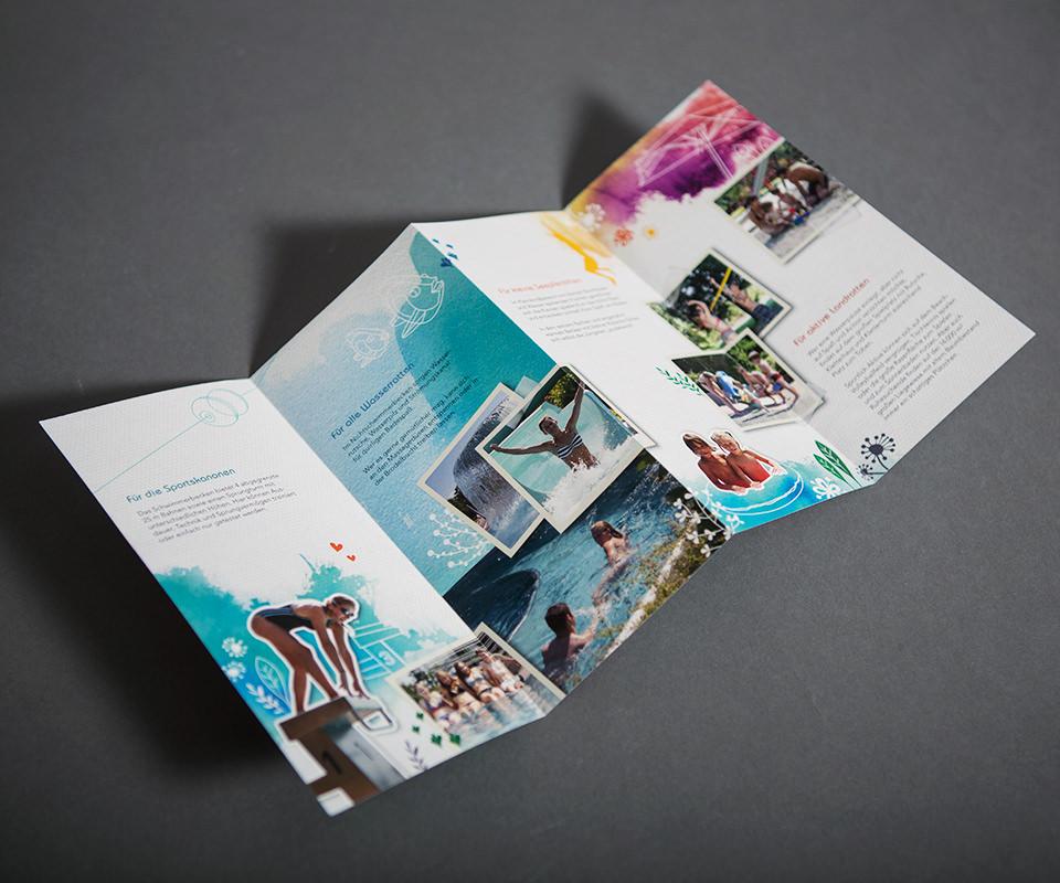 Sabath Media Werbeagentur - Waldschwimmbad Kandel – Flyer - Referenzbild 3