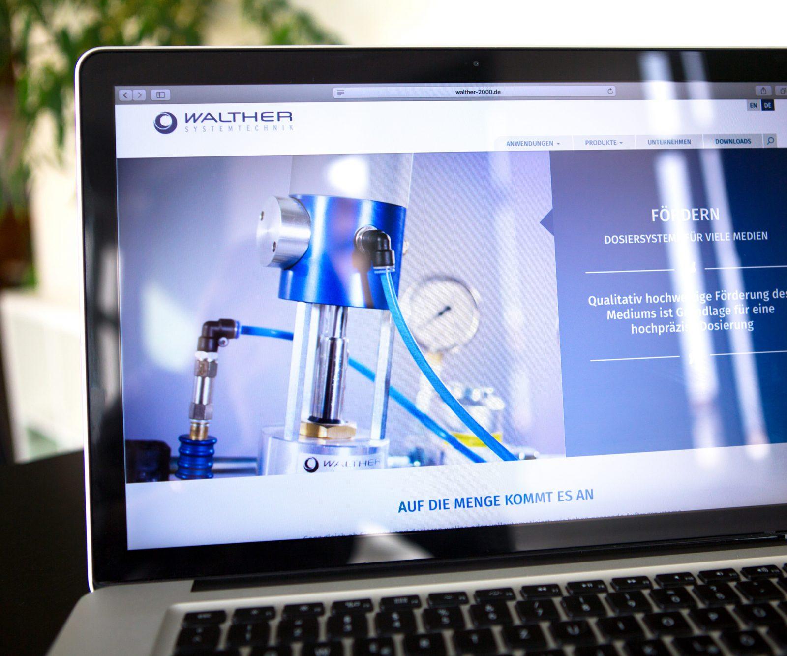 Sabath Media Werbeagentur - Walther Systemtechnik – Website & Broschüre - Referenzbild 2