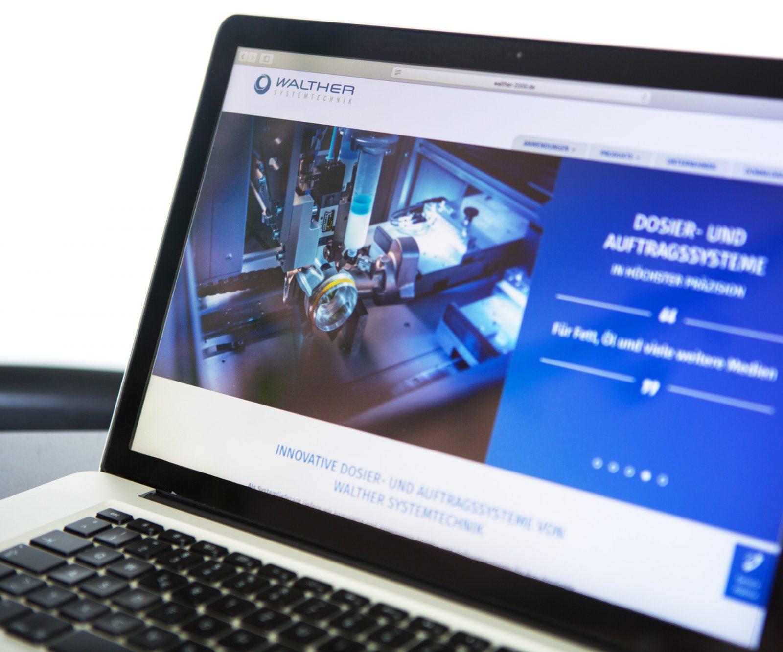 Sabath Media Werbeagentur - Walther Systemtechnik – Website & Broschüre - Referenzbild 5