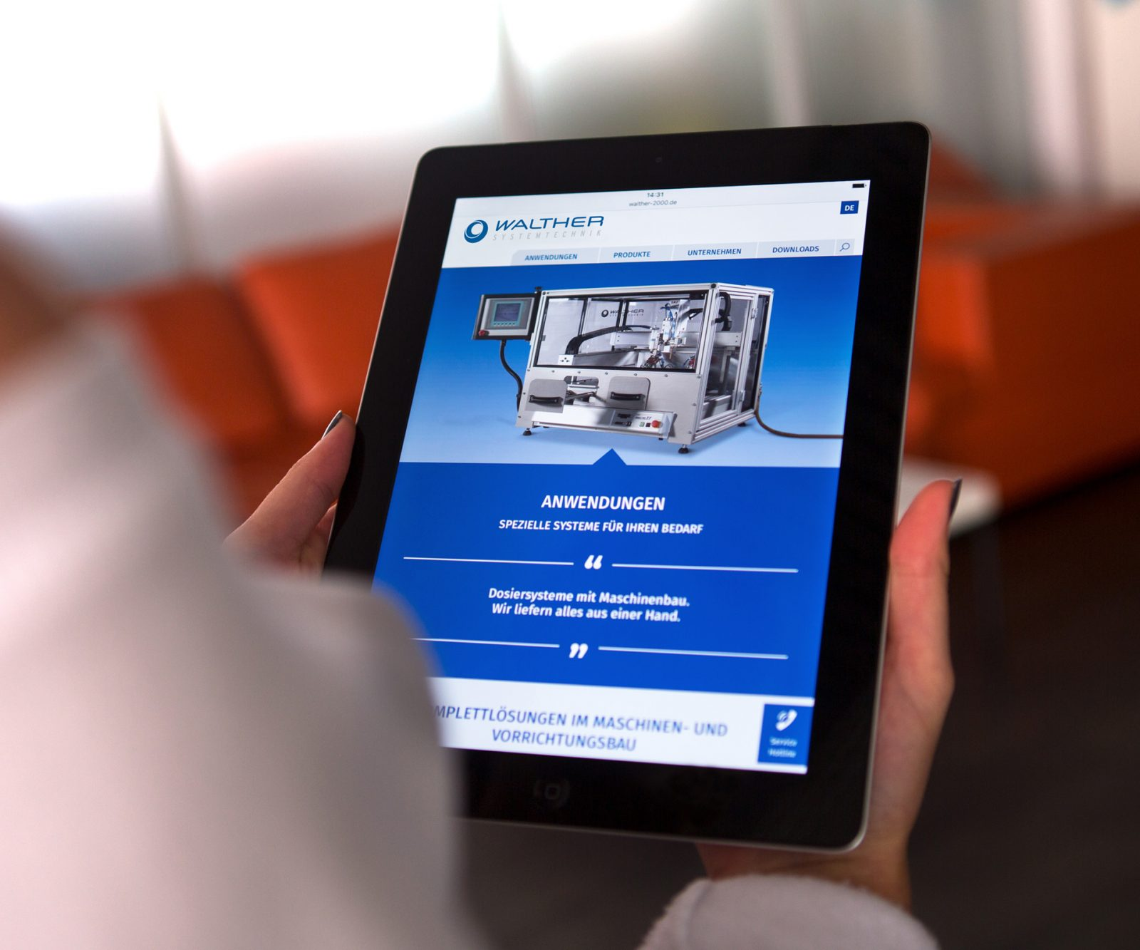 Sabath Media Werbeagentur - Walther Systemtechnik – Website & Broschüre - Referenzbild 1