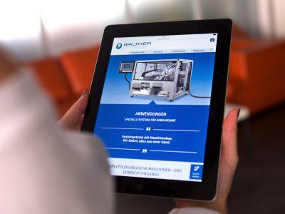 Sabath Media - Projekt Vorschaubild - Walther Systemtechnik – Website & Broschüre