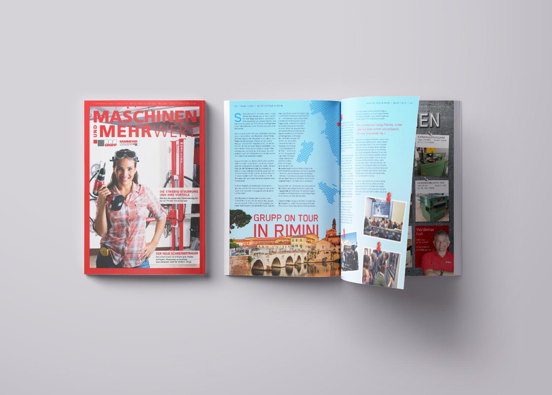 Sabath Media Werbeagentur - Maschinen-Grupp – Projektbeispiel - Referenzbild 1
