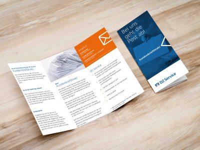 Sabath Media - Projekt Vorschaubild - DZ Service – Flyer