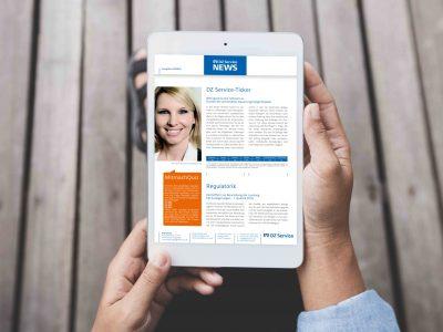 Sabath Media - Projekt Vorschaubild - DZ Service – Newsletter