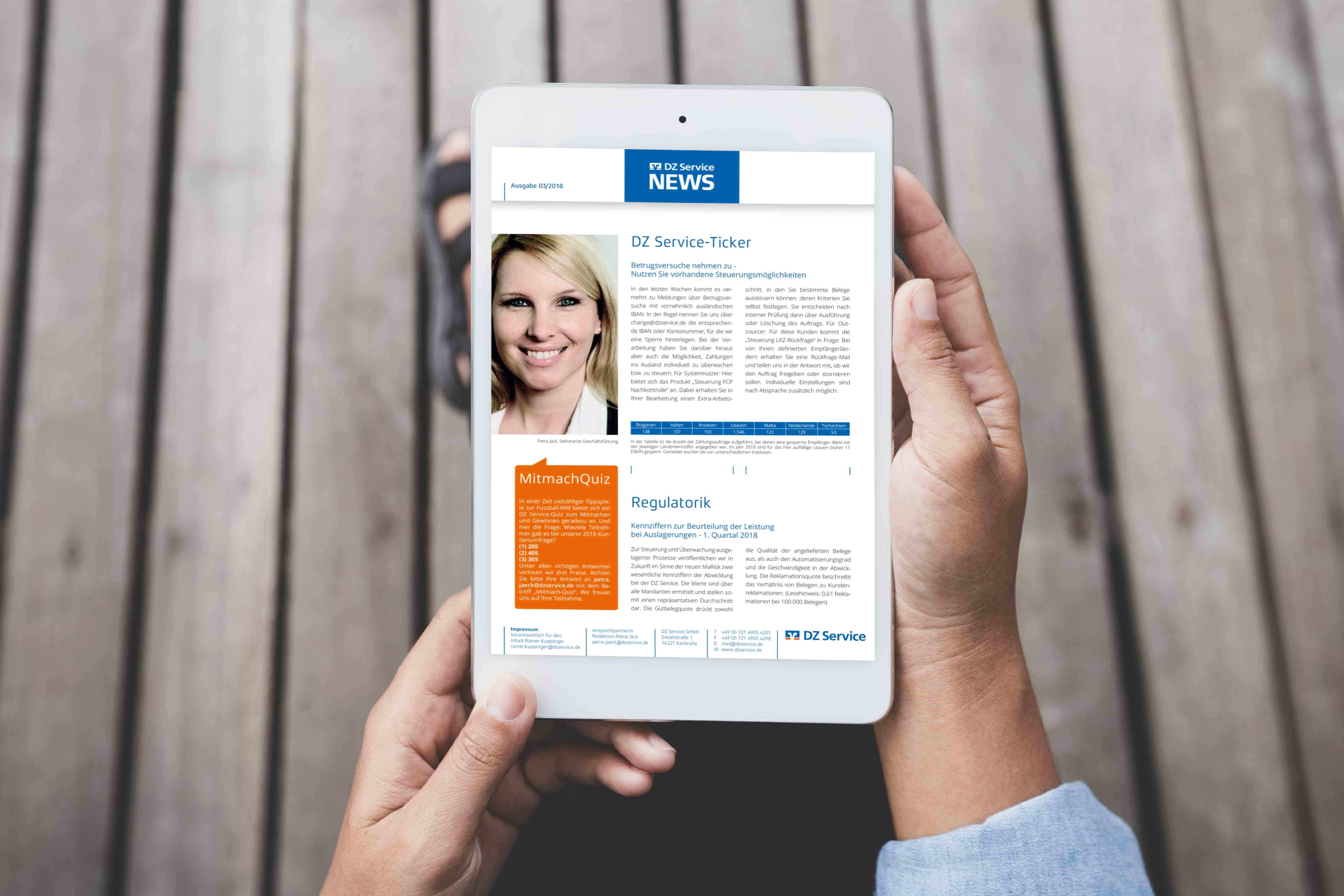 Sabath Media Werbeagentur - DZ Service – Newsletter - Referenzbild 1